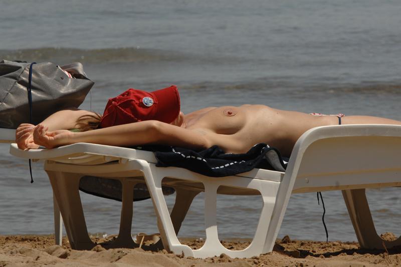 Girl on beach in Lopud