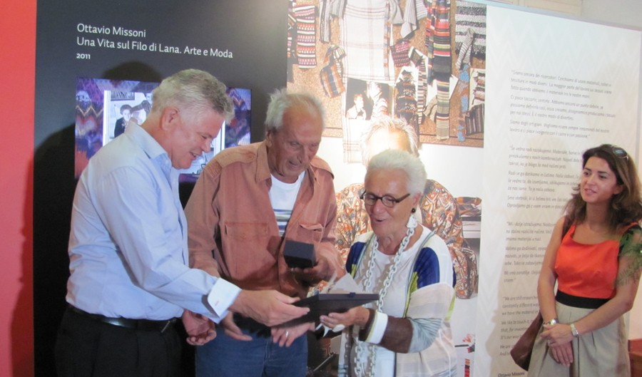 Photo of Famed fashion designer Ottavio Missoni visits his hometown