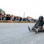 Homemade roller cart race in Konavle