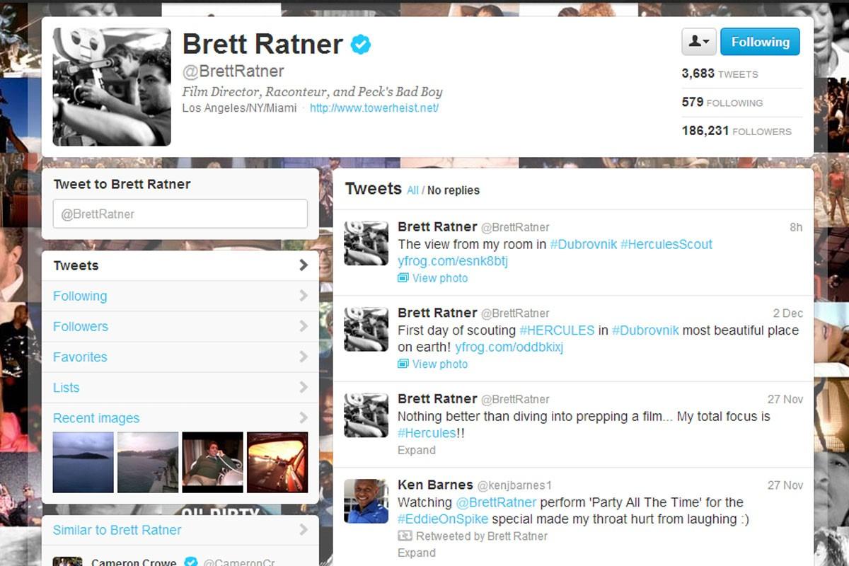 Brett Ratner Twitter