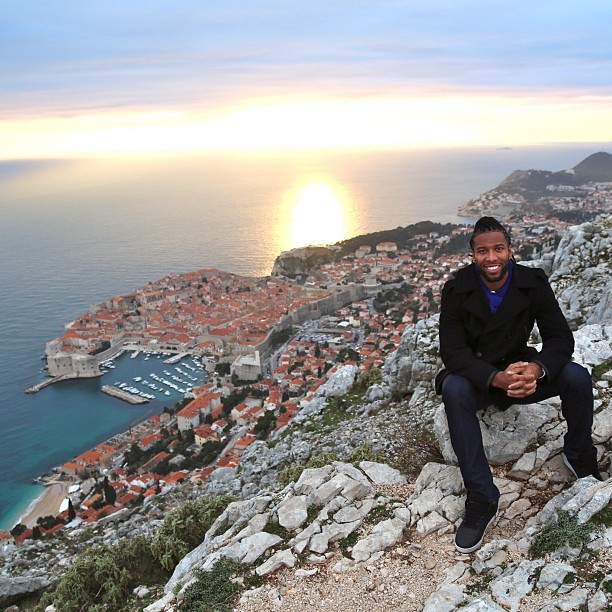 NFL Star Larry Fitzgerald In Dubrovnik