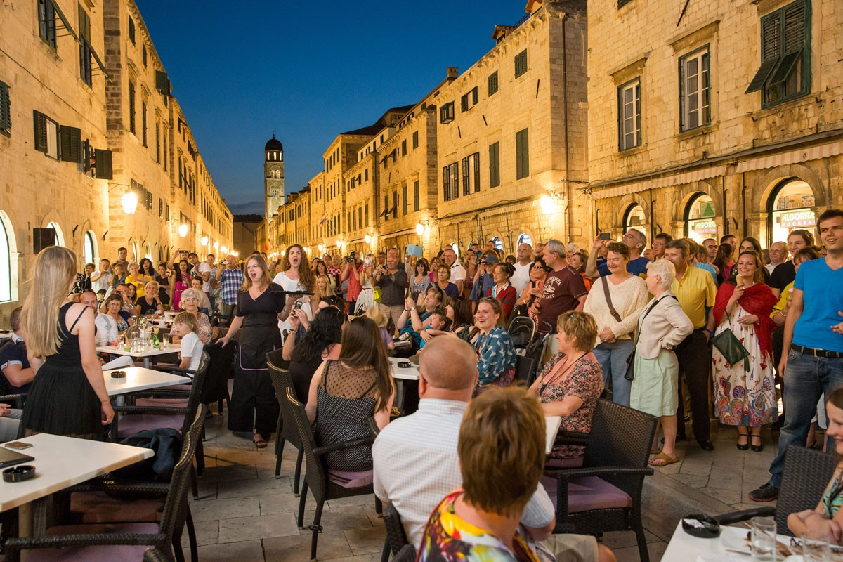 Photo of Opera Flash Mob On Dubrovnik's Stradun