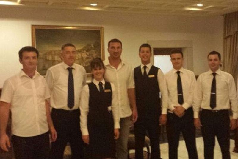 Photo of Hayden Pannetierre and Vladimir Klitschko In Dubrovnik