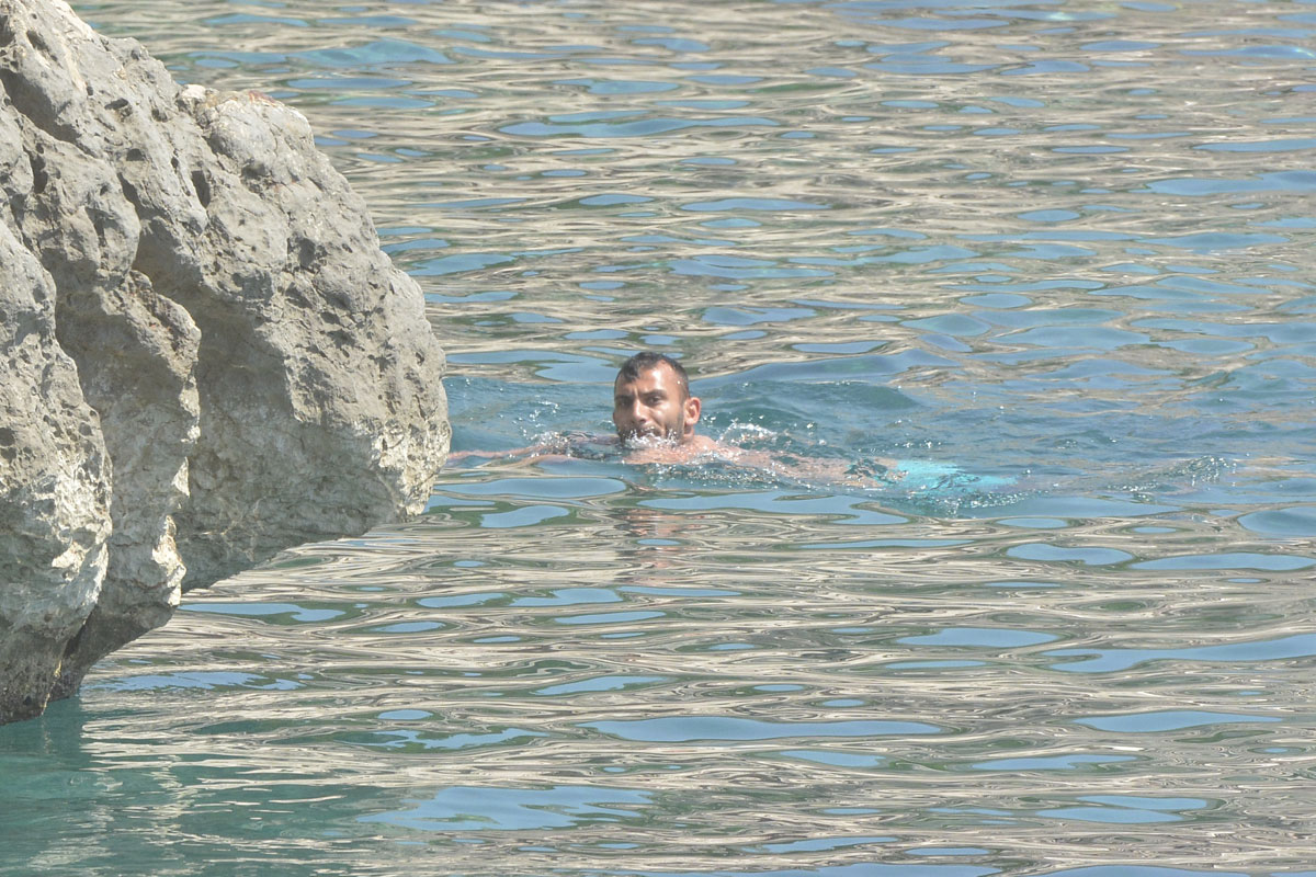 Photo of Turkish football player enjoys in Dubrovnik