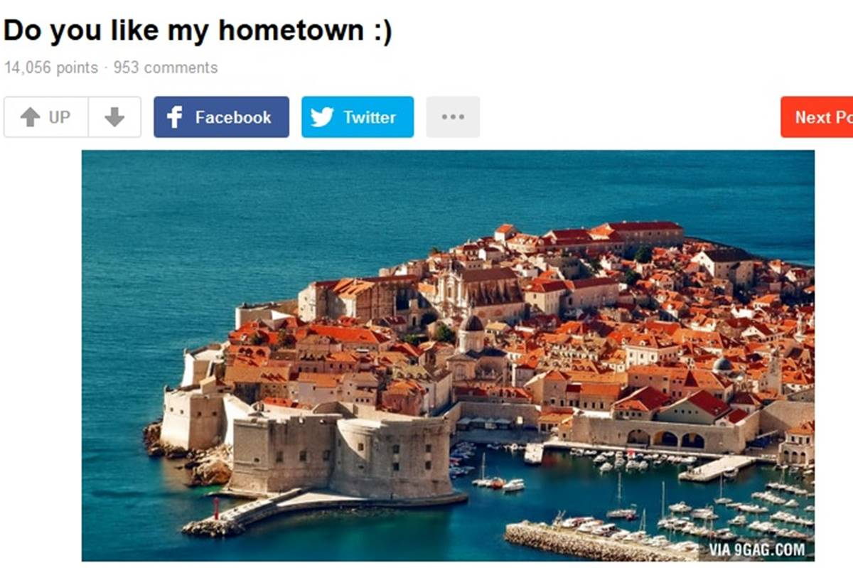 Photo of 'Do You Like my Hometown?' Dubrovnik is on 9GAG!
