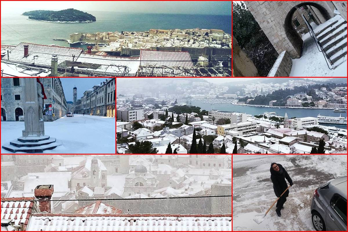 Photo of Video & Photo Gallery: Snow Surprise in Dubrovnik!