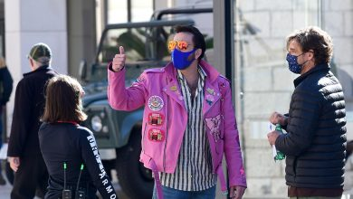 Photo of Laid-Back Nicolas Cage Gladly Poses with Fans in Cavtat Wearing a Pink Leather Jacket