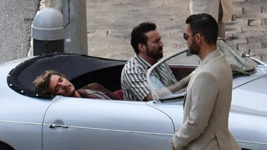 Photo of Nicolas Cage and Pedro Pascal Filming of 'The Unbearable Weight of Massive Talent' in the Dubrovnik Art Gallery